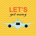 Lets get away card Royalty Free Stock Photo