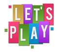 Lets Play Colorful Stripes Group Royalty Free Stock Photo