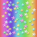 Lets play jacks colorful suspended on rainbow background illustration Royalty Free Stock Photos
