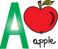 Letter A - apple Royalty Free Stock Photo