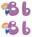 Letter B baby Royalty Free Stock Photography