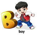 A letter B for boy