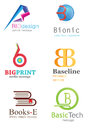 Letter b logo alphabetical design concepts Stock Image