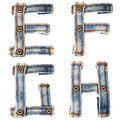 Letter of Blue jeans alphabet Stock Image