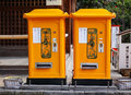 Letter boxes at the temple in Kyoto, Japan Royalty Free Stock Photo