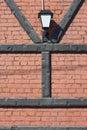 Letter bricks and lantern Royalty Free Stock Photo
