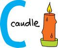 Letter C - candle Royalty Free Stock Photo