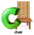 A letter C for chair Royalty Free Stock Photo