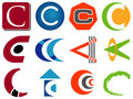 Letter C Logo Icons Stock Photos