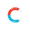 Letter c logo like magnet icon