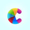 Letter of C Rainbow Style Logo