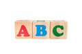 Letter cubes ABC isolated Royalty Free Stock Images