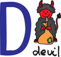 Letter D - devil Royalty Free Stock Photo