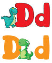Letter D dinosaur Royalty Free Stock Photography