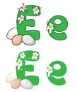 Letter E egg Royalty Free Stock Images