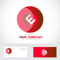 Letter e red circle logo Royalty Free Stock Photo