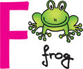 Letter F - frog Stock Photography