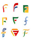 Letter F symbols Stock Photography