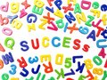 Letter fridge magnets - Success Royalty Free Stock Image