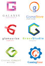 Letter g logo alphabetical design concepts Stock Images