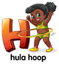 A letter H for hula hoop Royalty Free Stock Photo