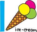 Letter I - icecream Royalty Free Stock Photo