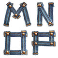 Letter of jeans alphabet Stock Photography