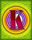 Letter K background Stock Image