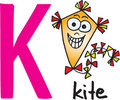 Letter K - kite Royalty Free Stock Photo