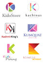Letter k logo alphabetical design concepts Stock Images