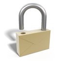 Letter lock clipping path included image with Royalty Free Stock Image