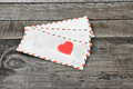Letter and love heart Royalty Free Stock Photo