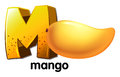 A letter M for mango Royalty Free Stock Photo