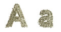Letter a made from dollar bills Royalty Free Stock Images