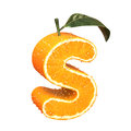 Letter made from orange