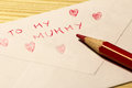 Letter for the mother's day Royalty Free Stock Photography