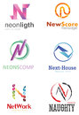 Letter n logo alphabetical design concepts Royalty Free Stock Photo