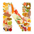 Letter N made of food Stock Images