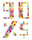 Letter numbers made of colorful beads Royalty Free Stock Photography