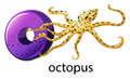 A letter O for octopus Royalty Free Stock Photo