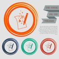 Letter page text icon on the red, blue, green, orange buttons for your website and design with space . Royalty Free Stock Photo