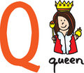 Letter Q - queen Royalty Free Stock Photo