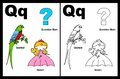 Letter Q worksheet Royalty Free Stock Photo