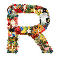 Letter R, for Christmas decoration Stock Photography