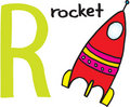 Letter R - rocket Royalty Free Stock Photo