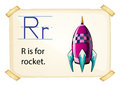 A letter R for rocket Royalty Free Stock Photo