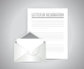 Letter of resignation papers illustration design over a grey background Royalty Free Stock Photos