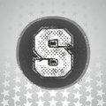 The letter s sport style black and white Royalty Free Stock Images