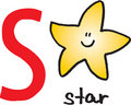 Letter S - star Royalty Free Stock Photo
