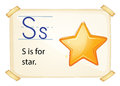 A letter S for star Royalty Free Stock Photo